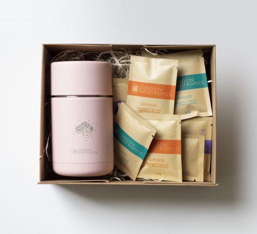 mushroom gift box pink